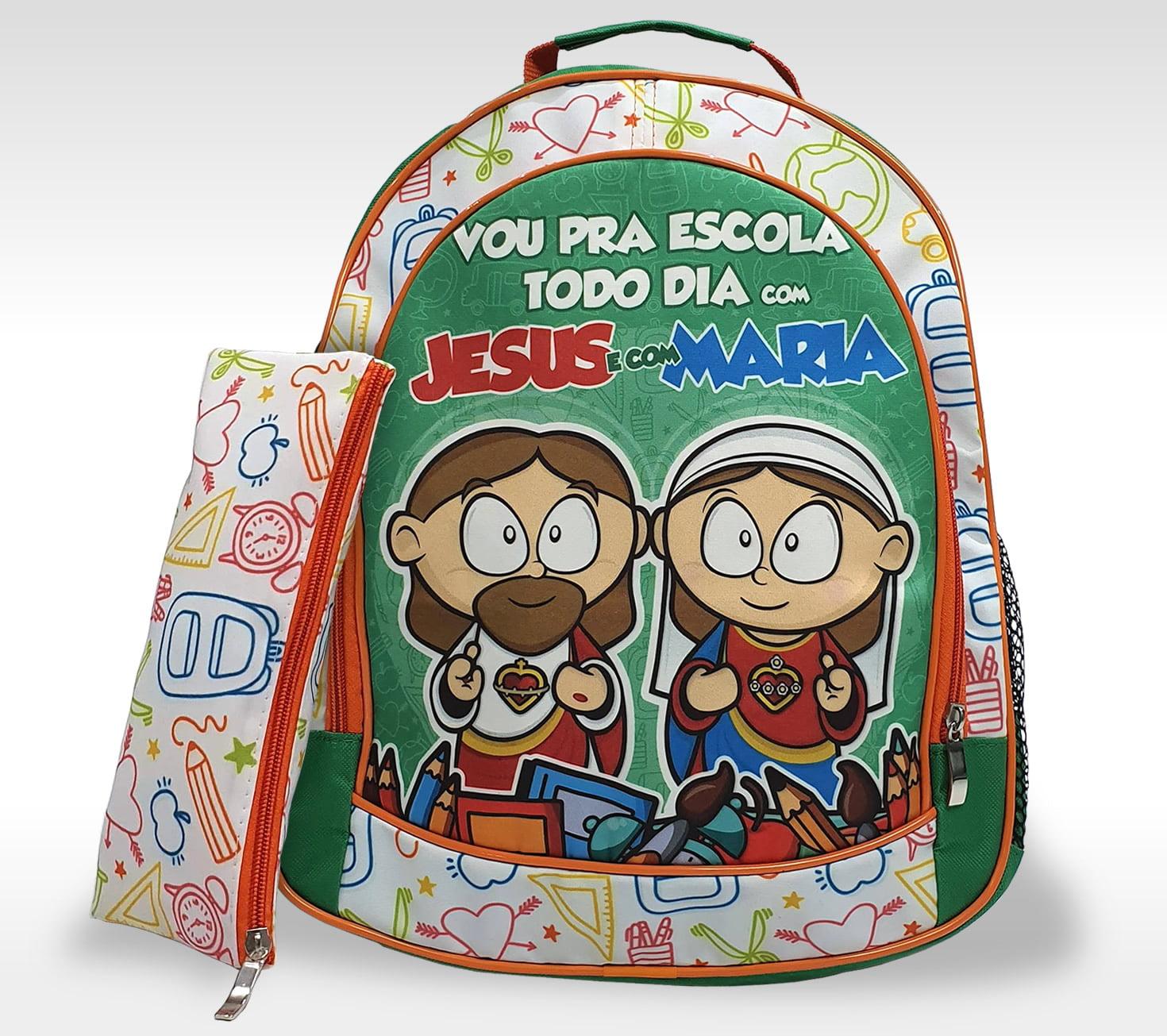 Mochila Infantil Jesus e Maria