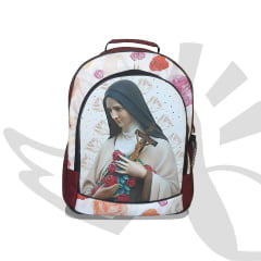 Mochila Santa Teresinha do Menino Jesus Vinho