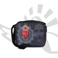 Bolsa Transversal / Porta-Bíblia Sagrado Coração de Jesus